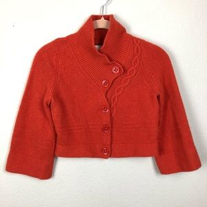 Guinevere Burnt Orange Wool Blend Sweater S